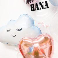 Cloud balloon pink ヘリウムバルーンset