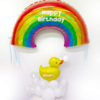 Rainbow and Duck on Cloud smallest ウォールバルーン