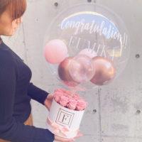 プリザーブドフラワー Pink Box Bubble Balloon
