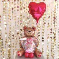 Teddy Bear and Red Valentine with KISS Chocolate