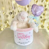 Happy Balloon Colorful Box with lovely rabbit